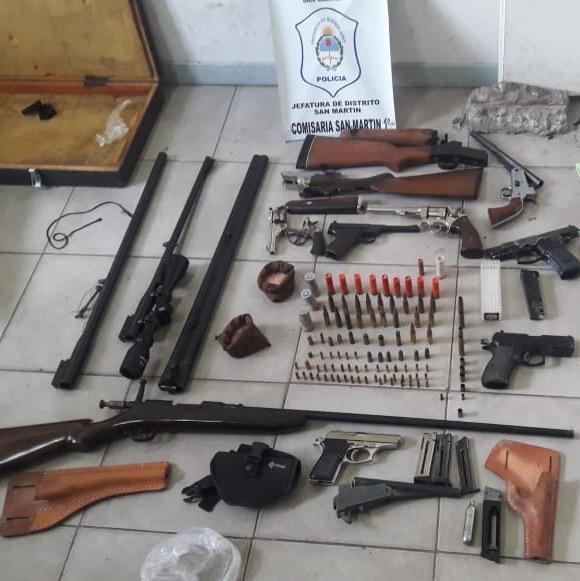 detenidos-disparos-arsenal-armas-san-martin