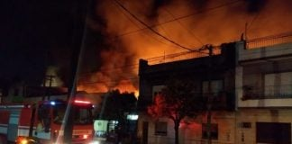 Incendio Fabrica San Martin