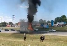 Incendio Camion Panamericana