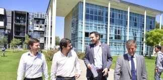 Fernando Moreira Junto A Augusto Costa Y Roberto Salvarezza, Participaron Del Primer Encuentro De Producción, Ciencia Y Tecnología