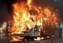 Colectivo 194 Incendio Terminal Escobar