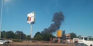 Incendio Panamericana Vicente Lopez Fabrica Munro