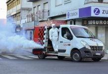 A Fin De Evitar La Propagación El Dengue En San Martín, Se Realizan Tareas De Fumigación En Lugares Establecidos Por El área Epidemiológica.