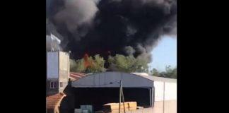 Incendio Galpon Malvinas Argentinas Tortuguitas