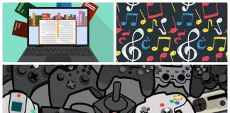 Video juegos libros musica