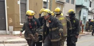 Bombero Herido Incendio Villa Lynch Que Pasa