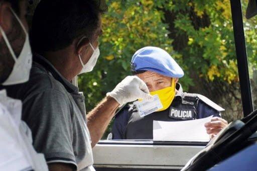 Policia Local Control Cuarentena Certificado Circulacion