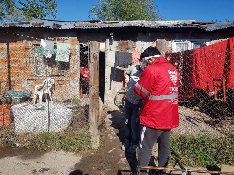 Operativos en barrios vulnerables de Tigre para detectar casos de coronavirus