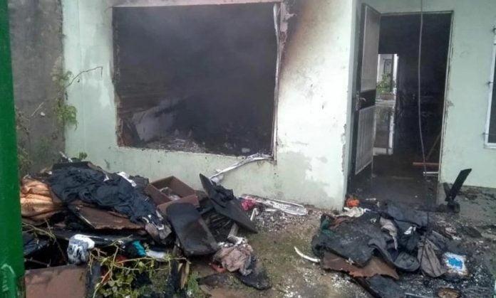 Incendio Casa Pilar Familia Coronavirus