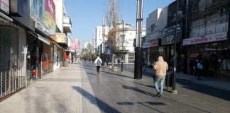 Peatonal Belgrano San Martin Cuarentena
