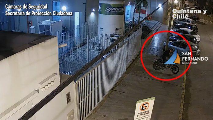 2 Robo De Moto Camara De Seguridad San Fernando