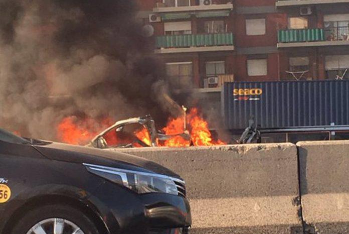 Auto Explosion Saavedra General Paz