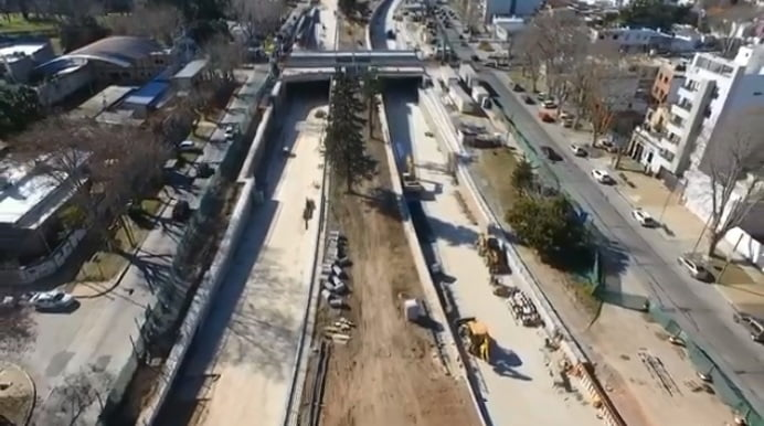 Obras Ferrocarril Mitre Belgrano Norte San Fernando Malvinas Escobar