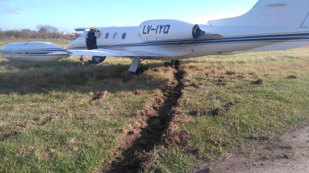 Avion Despiste Aeropuerto San Fernando