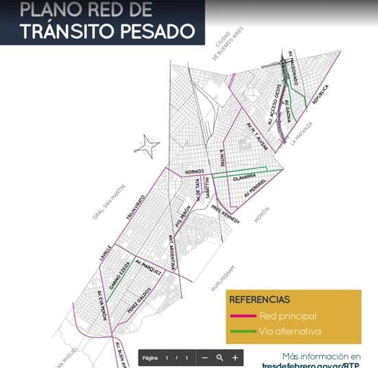 Red De Transito Pesado Tres De Febrero