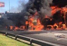 Incendio Camion Panamericana Don Torcuato