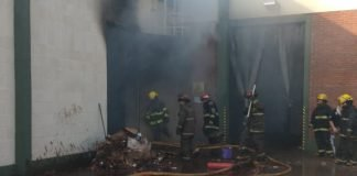 Bomberos.incendio Villa Maipu 1