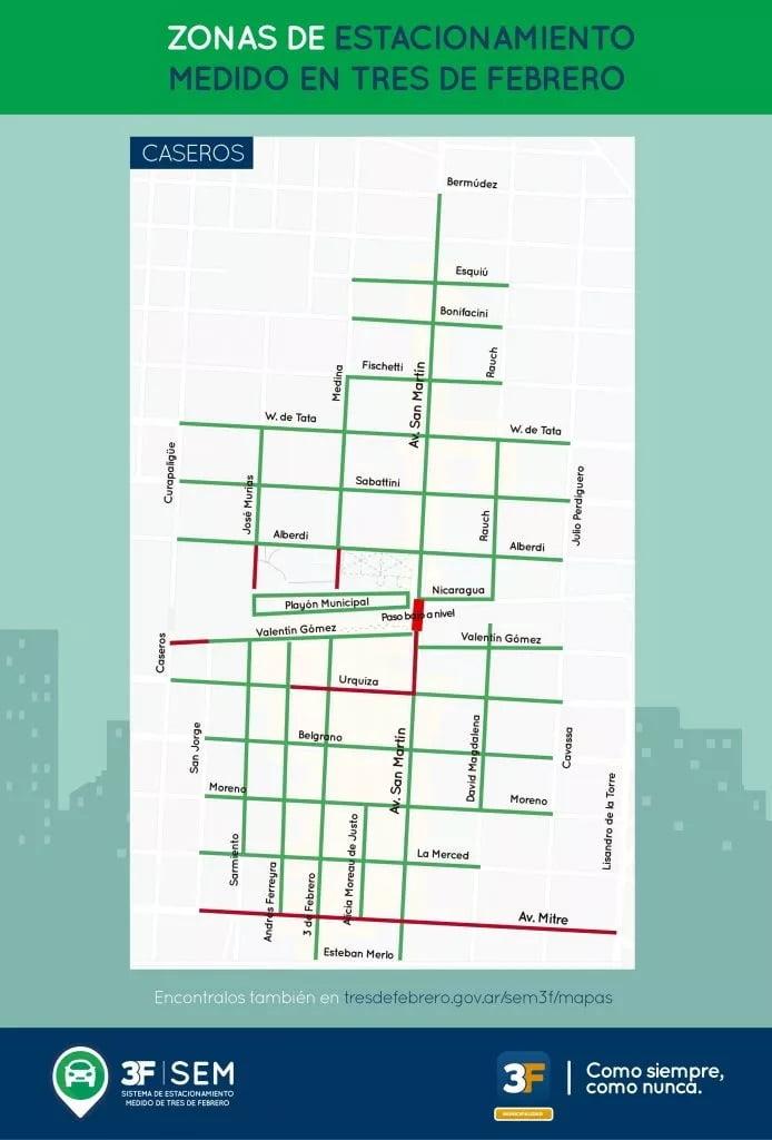 Estacionamiento Medido Mapa Caseros