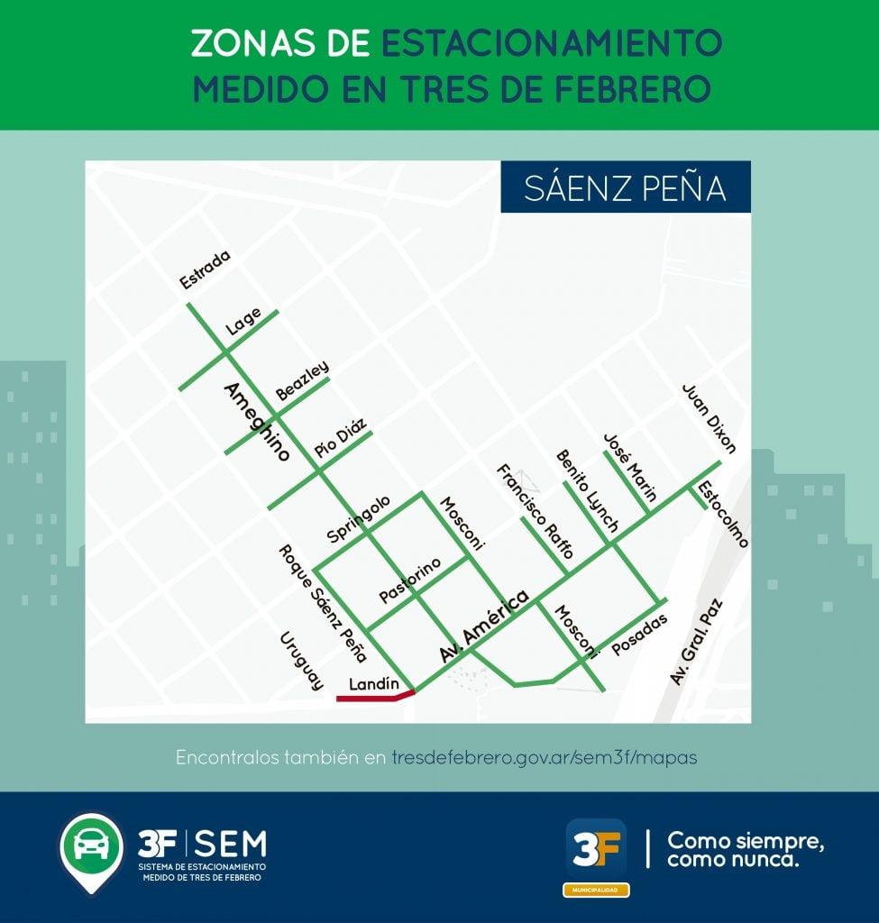 Estacionamiento Medido Mapa Saenz Pena