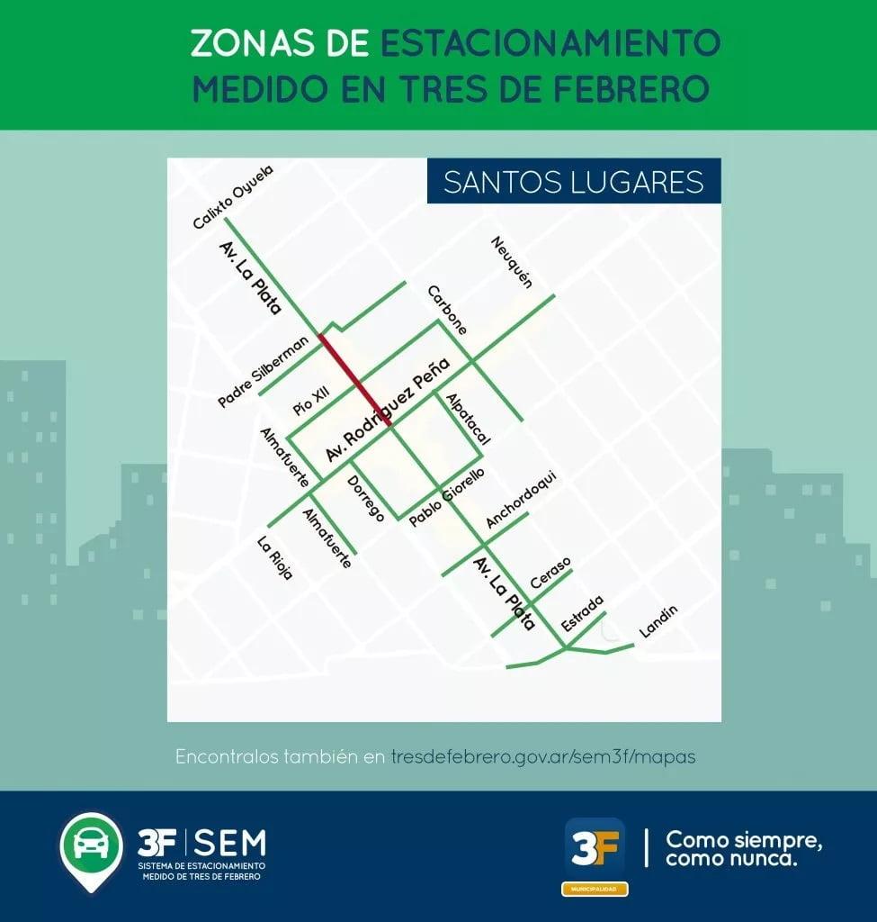 Estacionamiento Medido Mapa Santos Lugares