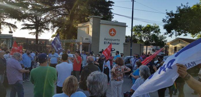 Manifestaciones Vecinos El Palomar Aeropuerto