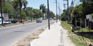obras construcción veredas centros comerciales Tigre