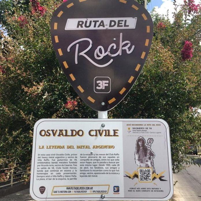 La Ruta Del Rock, Osvaldo Civile, Tres De Febrero