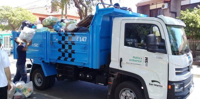 camion basura residuos san martin
