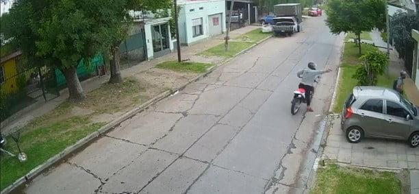 vídeo tirotean casa merlo robo