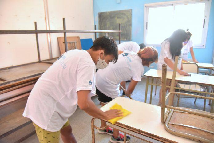 este año el foco estuvo puesto en las tareas de limpieza y desinfección para preparar los espacios en función de los protocolos para la prevención del covid 19