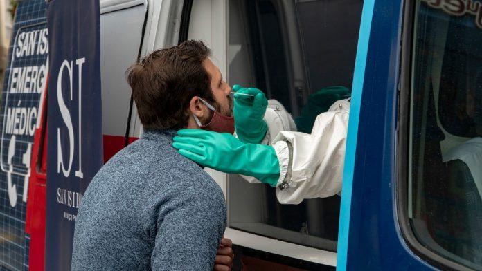 hisopado test coronavirus covid 19 san isidro