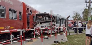 accidente tren colectivo tortuguitas