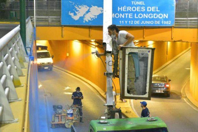 tunel monte logdon ituzaingo, homenaje malvinas