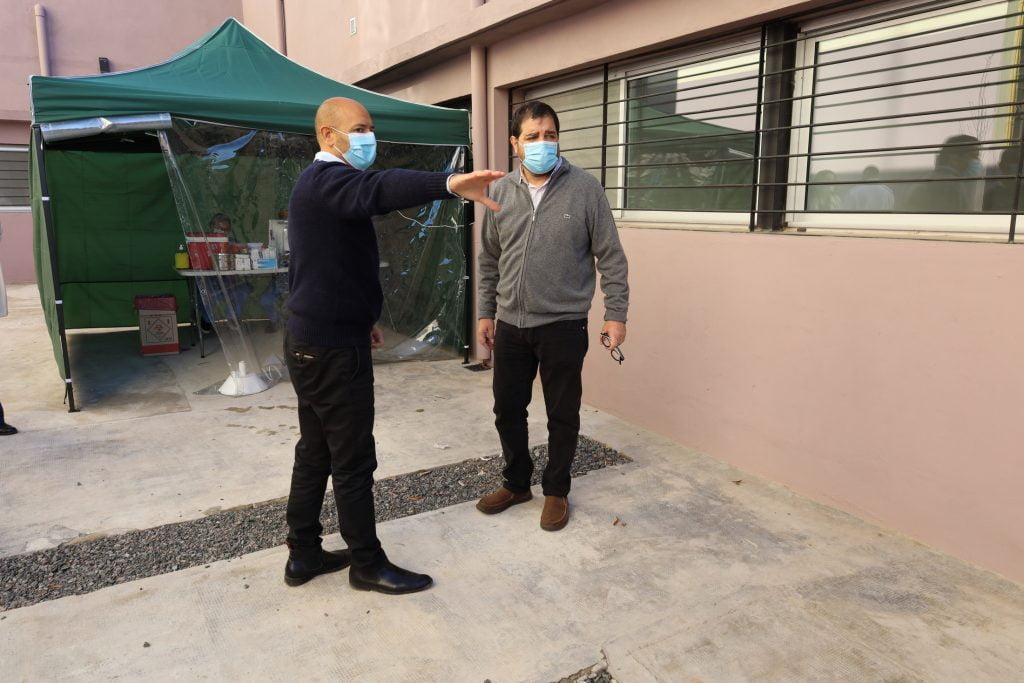 el intendente de san martin fernando moreira visito el nuevo sector del hospital local dr. enrique marengo de villa ballester que permitira dar un salto de calidad en la atencion medica.
