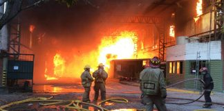 bomberos incendio papelera