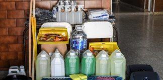 elementos sanitizantes 120 escuelas san fernando