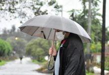 lluvia paraguas nublado sol pronostico