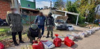 la gendarmeria nacional desarticulo una organizacion dedicada al narcotrafico y decomiso mas de 340 kilos de marihuana en pilar 1