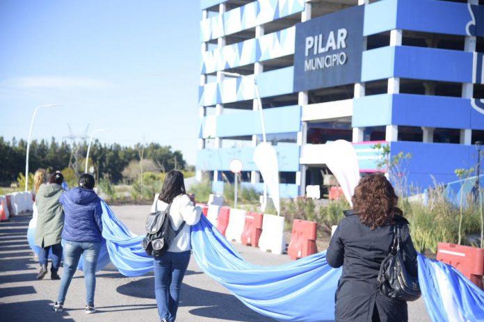 bandera argentina vacunatorio km 46 pilar