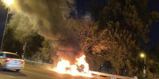 incendio panamericana auto