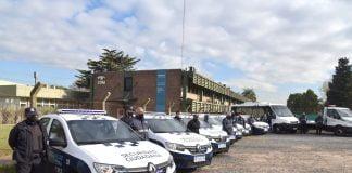 a traves del fondo nacional de fortalecimiento de la seguridad el municipio adquirio moviles un minibus y una plancha para seguir colaborando con las fuerzas policiales en la ciudad.