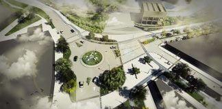 acceso al parque vista aerea