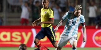 colombia argentina. eliminatorias sudamericanas.