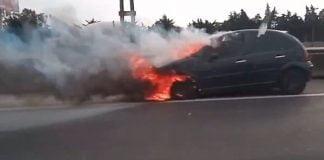 auto incendio panamericana