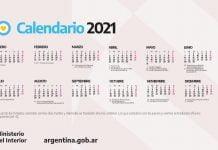 calendario 2021 feriados