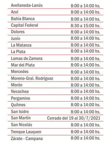 horarios caja abogacia feria judicial