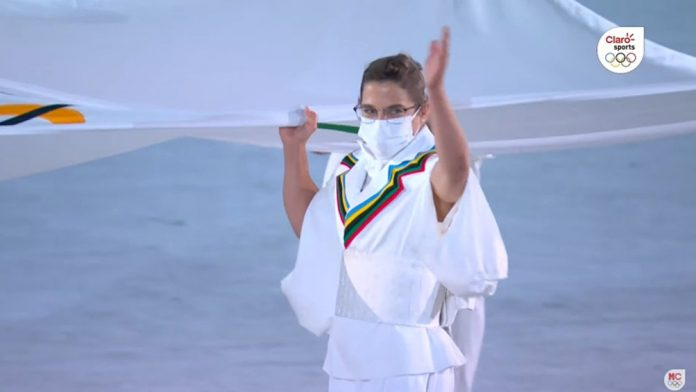 paula pareto bandera olimpica