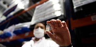 vacuna frasco ensayo estudio