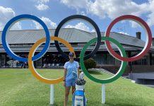 joven vecina pilar juegos olímpicos