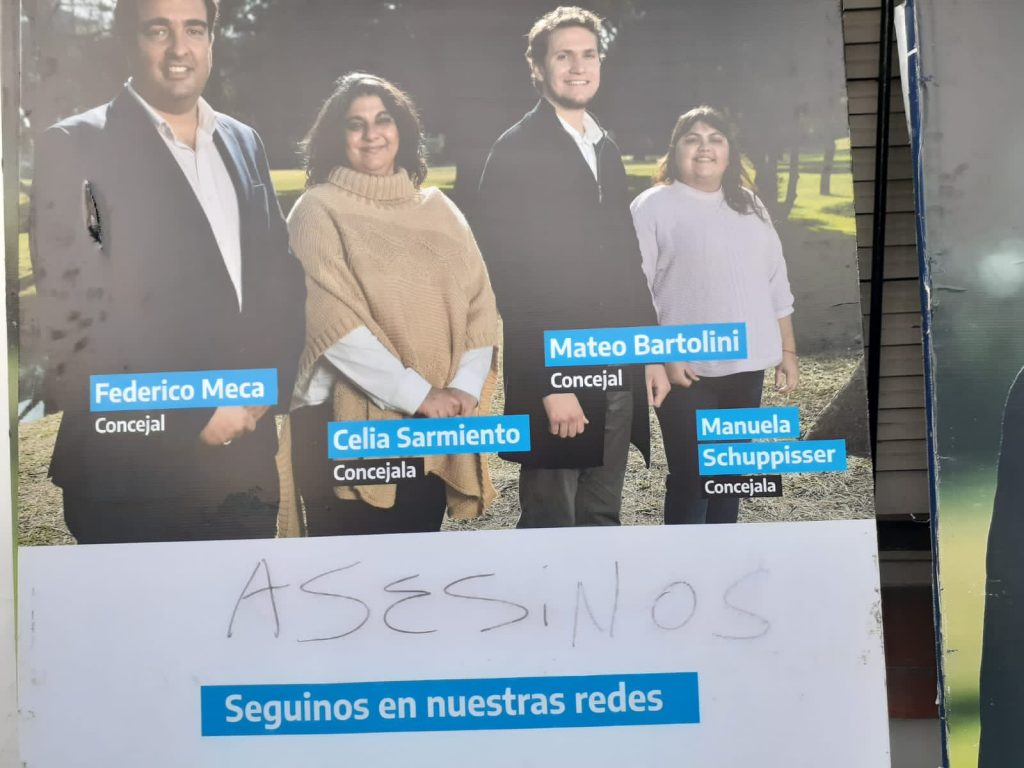 vandalizacion carteles san isidro